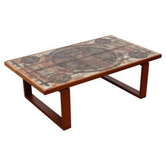 Handsome 1970's Roger Capron Style Danish Coffee Table by Ox-Art