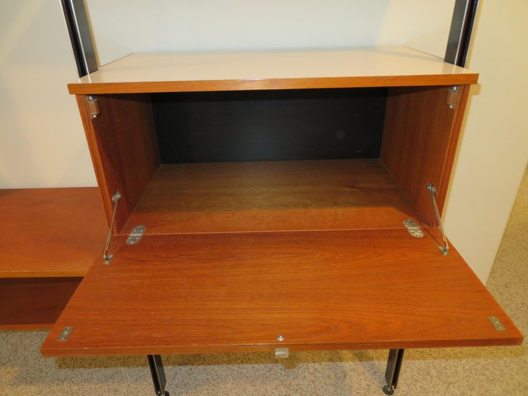 Handsome 3 Bay George Nelson Herman Miller CSS Wall Unit Mid-Century Modern For Sale 4