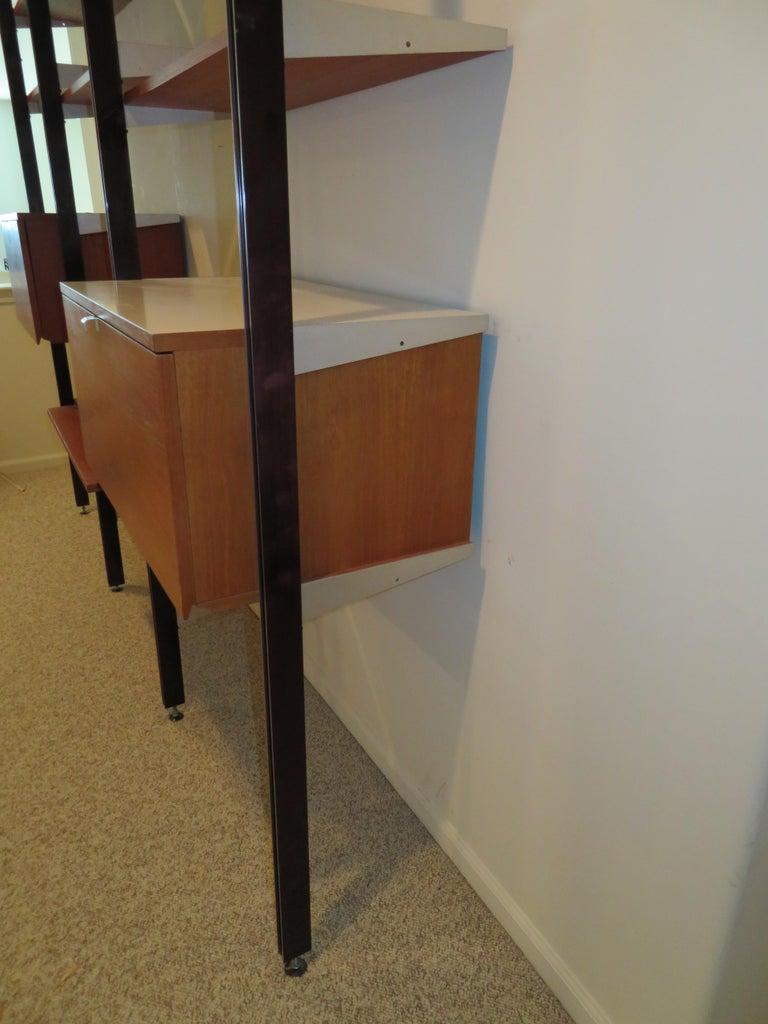 Handsome 3 Bay George Nelson Herman Miller CSS Wall Unit Mid-Century Modern For Sale 5