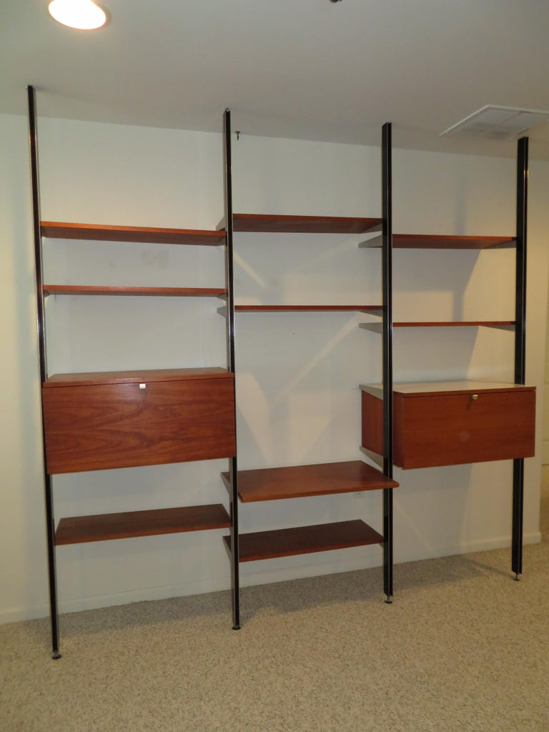 Handsome 3 Bay George Nelson Herman Miller CSS Wall Unit Mid-Century Modern For Sale 9