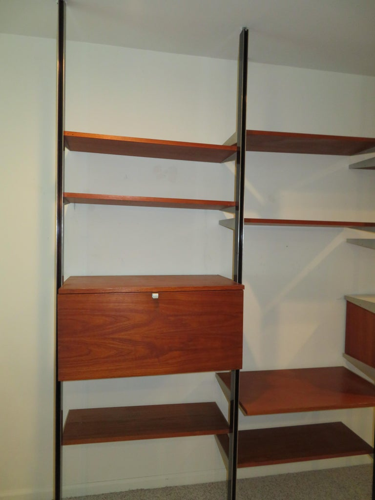 Handsome 3 Bay George Nelson Herman Miller CSS Wall Unit Mid-Century Modern For Sale 10