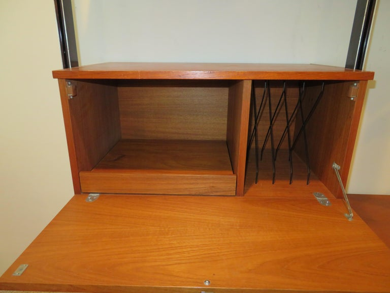 American Handsome 3 Bay George Nelson Herman Miller CSS Wall Unit Mid-Century Modern For Sale