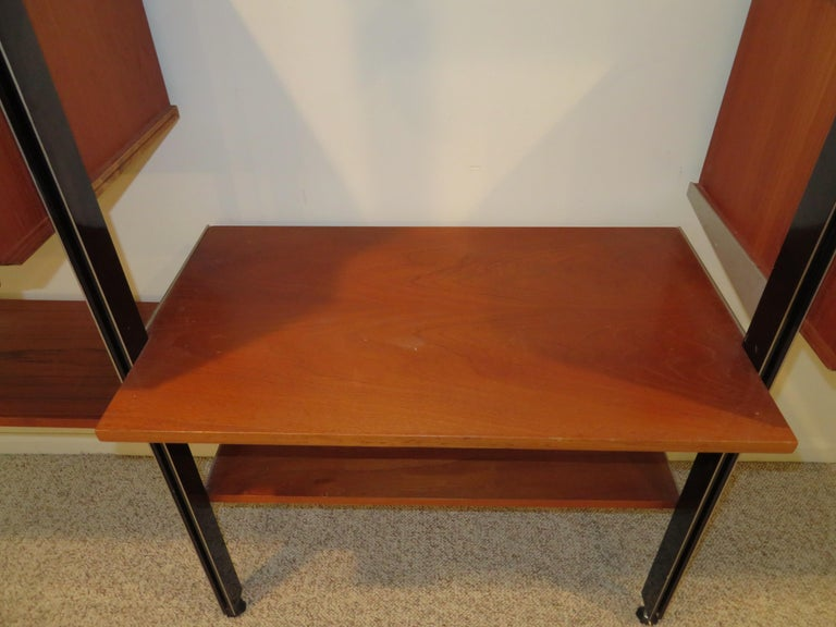 Handsome 3 Bay George Nelson Herman Miller CSS Wall Unit Mid-Century Modern For Sale 1