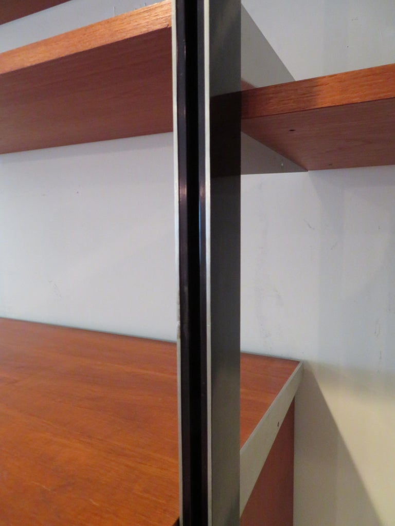 Handsome 3 Bay George Nelson Herman Miller CSS Wall Unit Mid-Century Modern For Sale 2