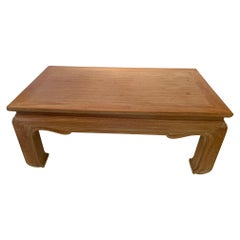 Handsome Cerused Wood Asian Style Cocktail Table