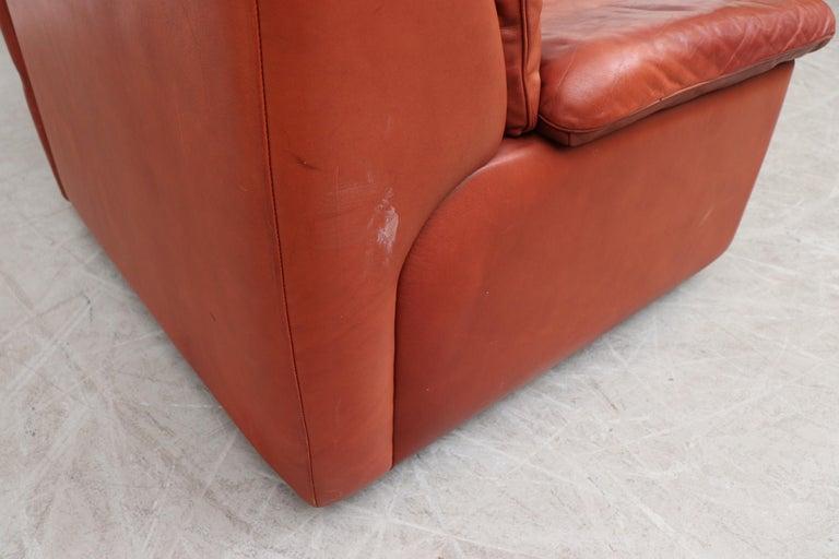 Handsome De Sede DS 66 5-Piece Cognac Leather Sectional Sofa For Sale 5