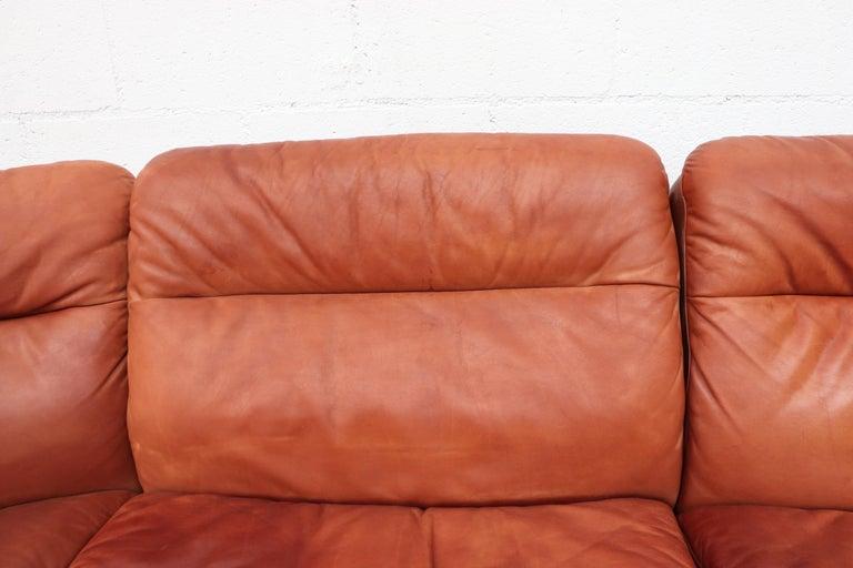 Handsome De Sede DS 66 5-Piece Cognac Leather Sectional Sofa For Sale 2
