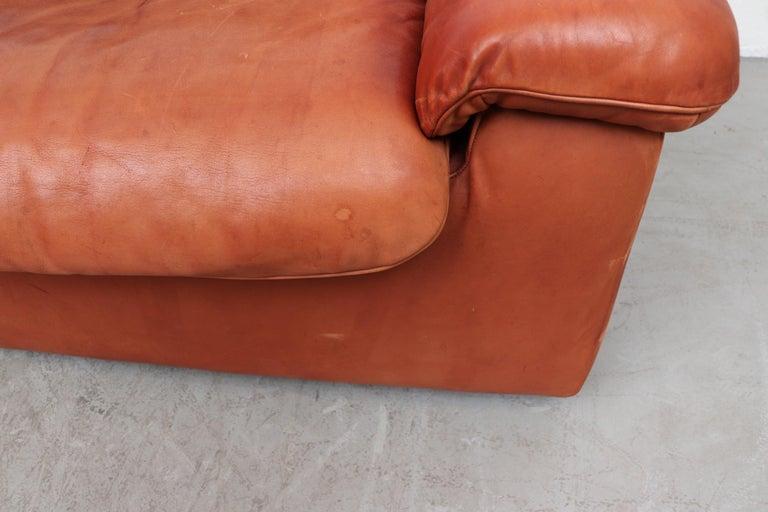 Handsome De Sede DS 66 5-Piece Cognac Leather Sectional Sofa For Sale 3