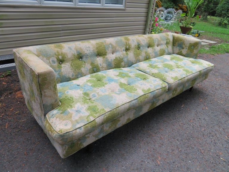 Handsome Dunbar Even Arm Sofa by Edward Wormley Mid-Century Modern For Sale 7