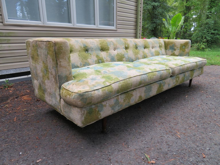American Handsome Dunbar Even Arm Sofa by Edward Wormley Mid-Century Modern For Sale