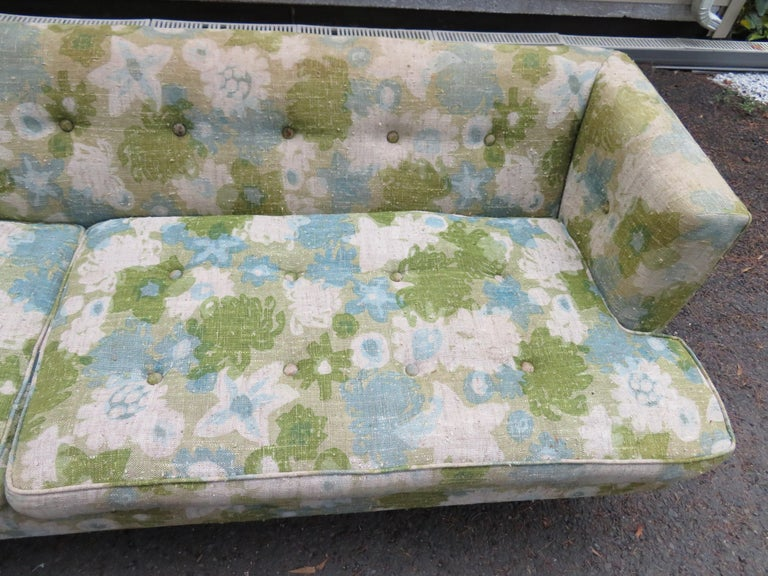 Upholstery Handsome Dunbar Even Arm Sofa by Edward Wormley Mid-Century Modern For Sale