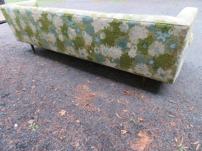 Handsome Dunbar Even Arm Sofa by Edward Wormley Mid-Century Modern For Sale 1