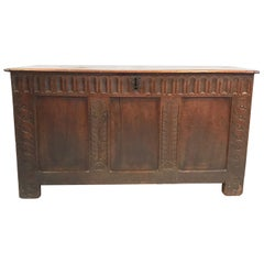 Handsome Early 18th Century British Coffer Blanket Chest