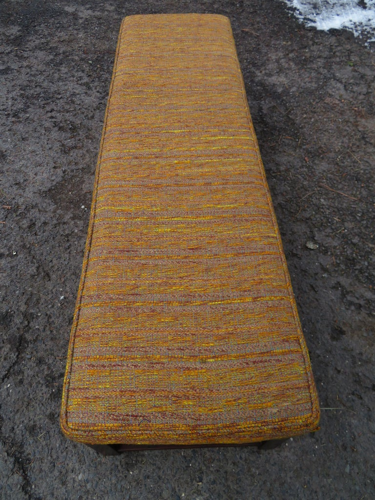 Handsome Edward Wormley for Dunbar Long Bench Mid-Century Modern For Sale 4