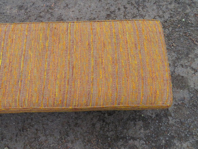 Handsome Edward Wormley for Dunbar Long Bench Mid-Century Modern For Sale 6