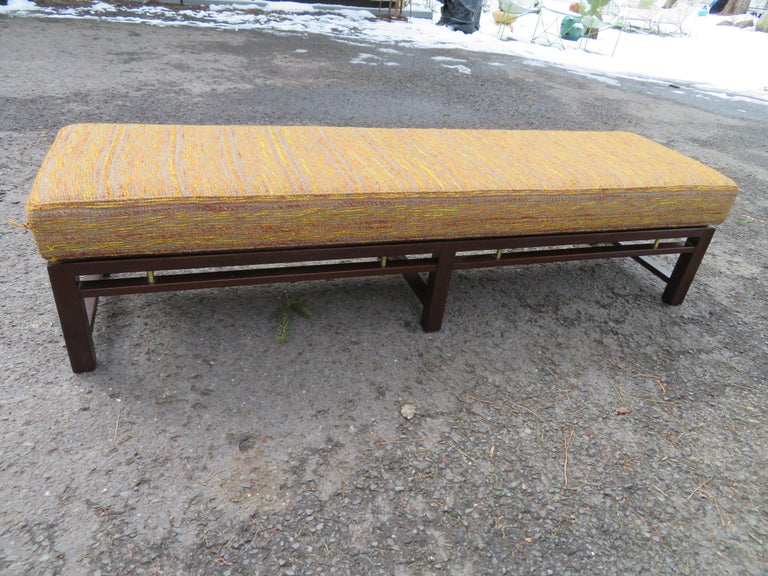 Handsome Edward Wormley for Dunbar Long Bench Mid-Century Modern For Sale 10