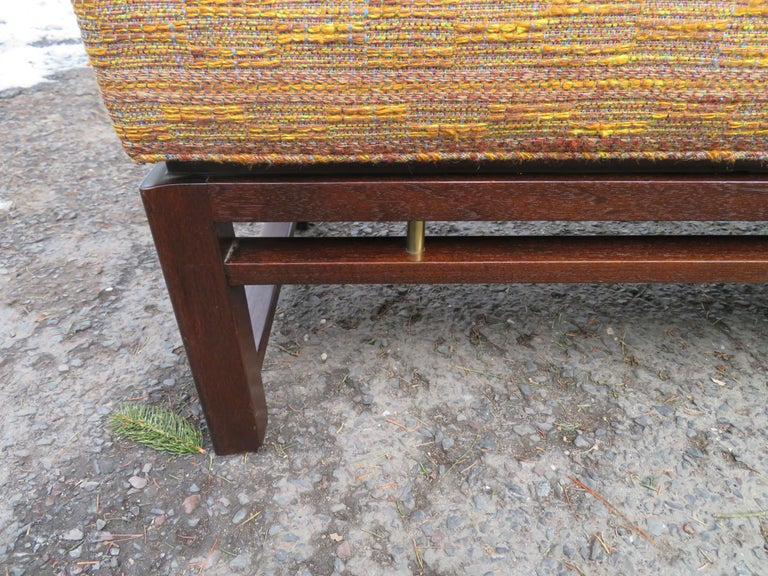 American Handsome Edward Wormley for Dunbar Long Bench Mid-Century Modern For Sale
