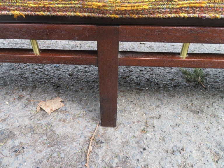 Handsome Edward Wormley for Dunbar Long Bench Mid-Century Modern In Good Condition For Sale In Pemberton, NJ