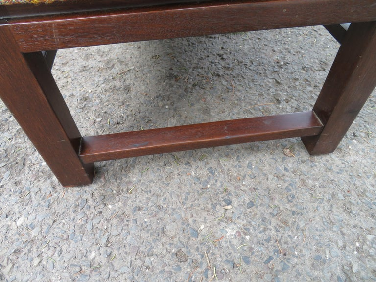 Brass Handsome Edward Wormley for Dunbar Long Bench Mid-Century Modern For Sale
