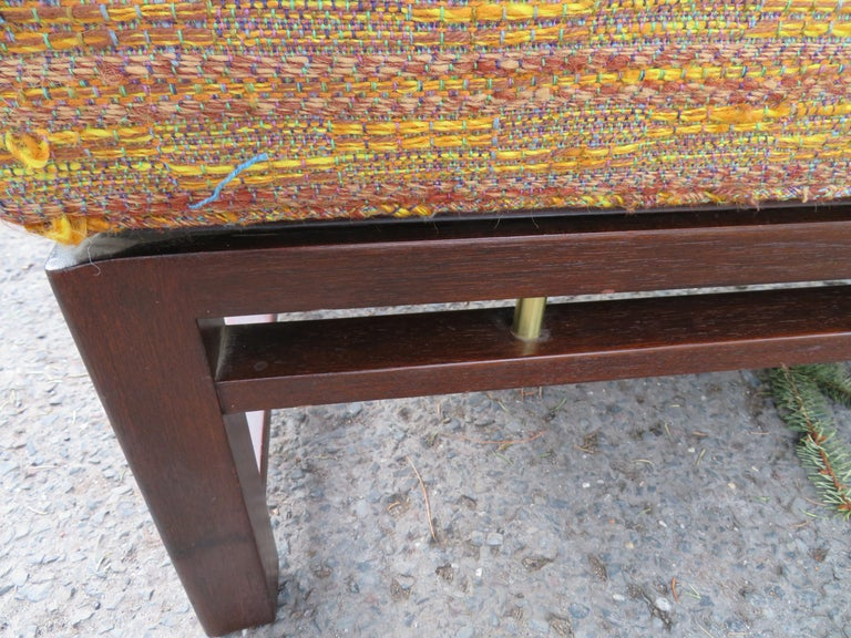 Handsome Edward Wormley for Dunbar Long Bench Mid-Century Modern For Sale 1