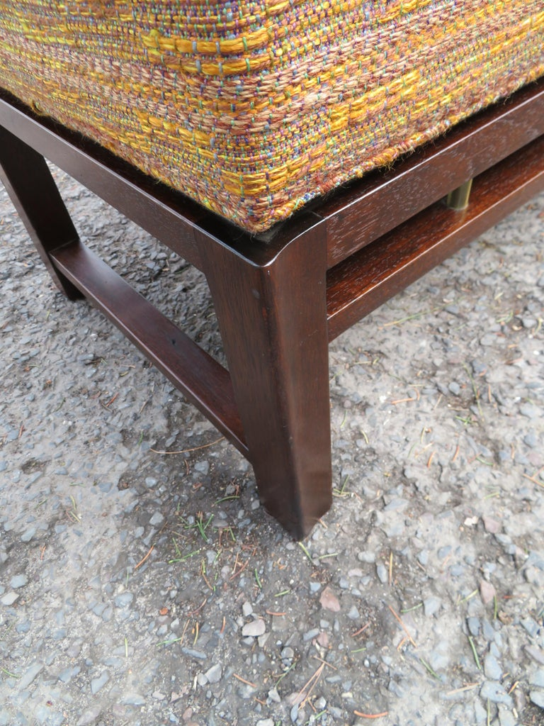 Handsome Edward Wormley for Dunbar Long Bench Mid-Century Modern For Sale 3