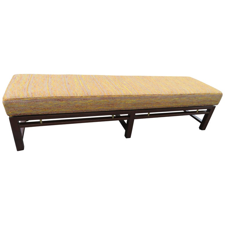 Handsome Edward Wormley for Dunbar Long Bench Mid-Century Modern For Sale