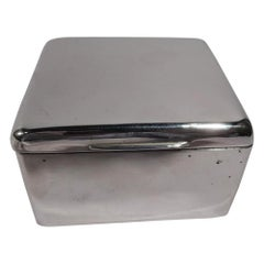 Handsome English Edwardian Sterling Silver Trinket Box