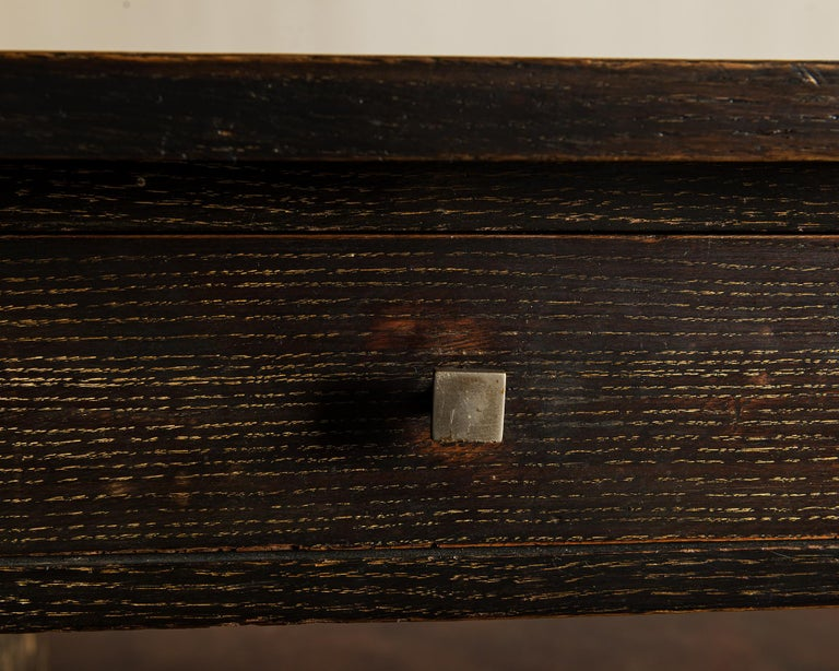 Handsome French Desk in Black Cerused Oak, 1940s For Sale 2