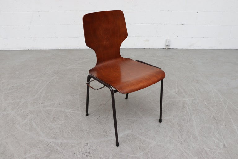 Handsome Fritz Hansen Style Wingback Stacking Dining Chairs For Sale 2