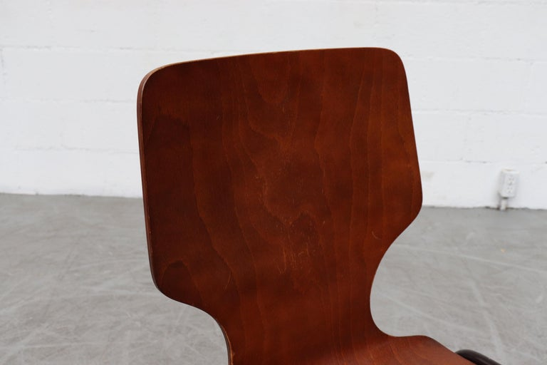 Handsome Fritz Hansen Style Wingback Stacking Dining Chairs For Sale 3