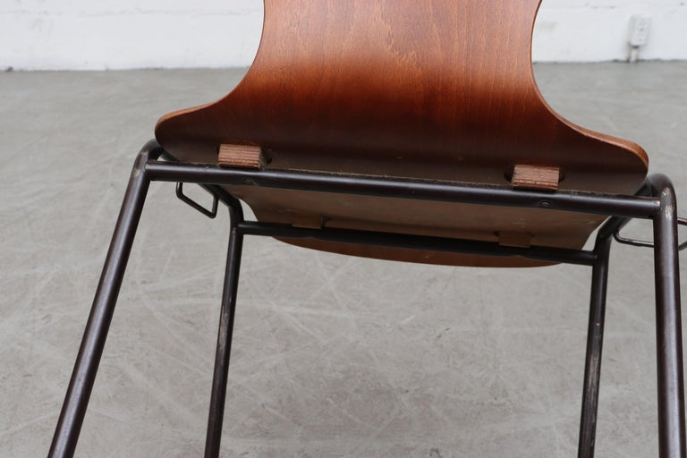 Handsome Fritz Hansen Style Wingback Stacking Dining Chairs For Sale 8