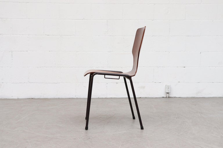 Mid-20th Century Handsome Fritz Hansen Style Wingback Stacking Dining Chairs For Sale