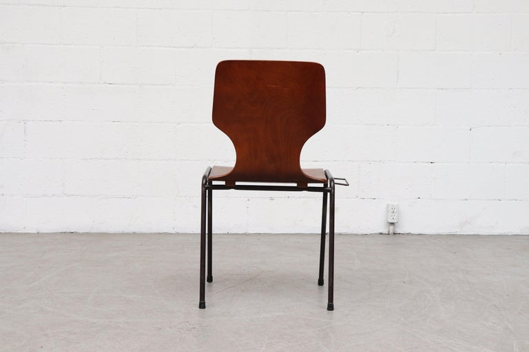 Handsome Fritz Hansen Style Wingback Stacking Dining Chairs For Sale 1