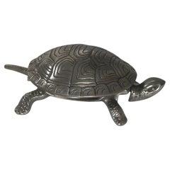 Handsome German Figural Mechanical Desk / Counter Bell, Tortoise