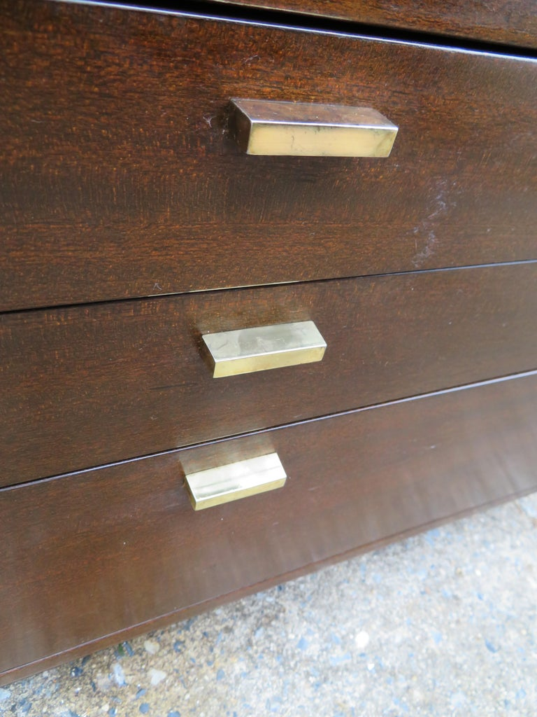 Mahogany Handsome Harvey Probber Small Chest Cabinet Nightstand Mid-Century Modern For Sale