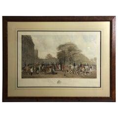 Handsome Large English Hunt Scene Engraving