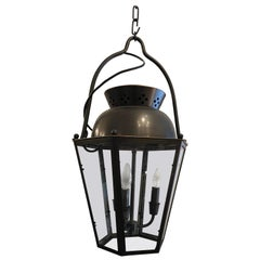 Handsome Large Traditional Bronze Finish Lantern