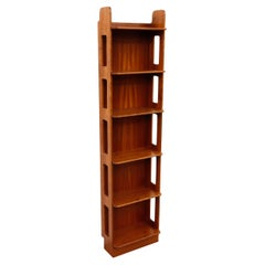 Handsome Mid-Century Mahogany Wall mount Bookcase by Josef Frank