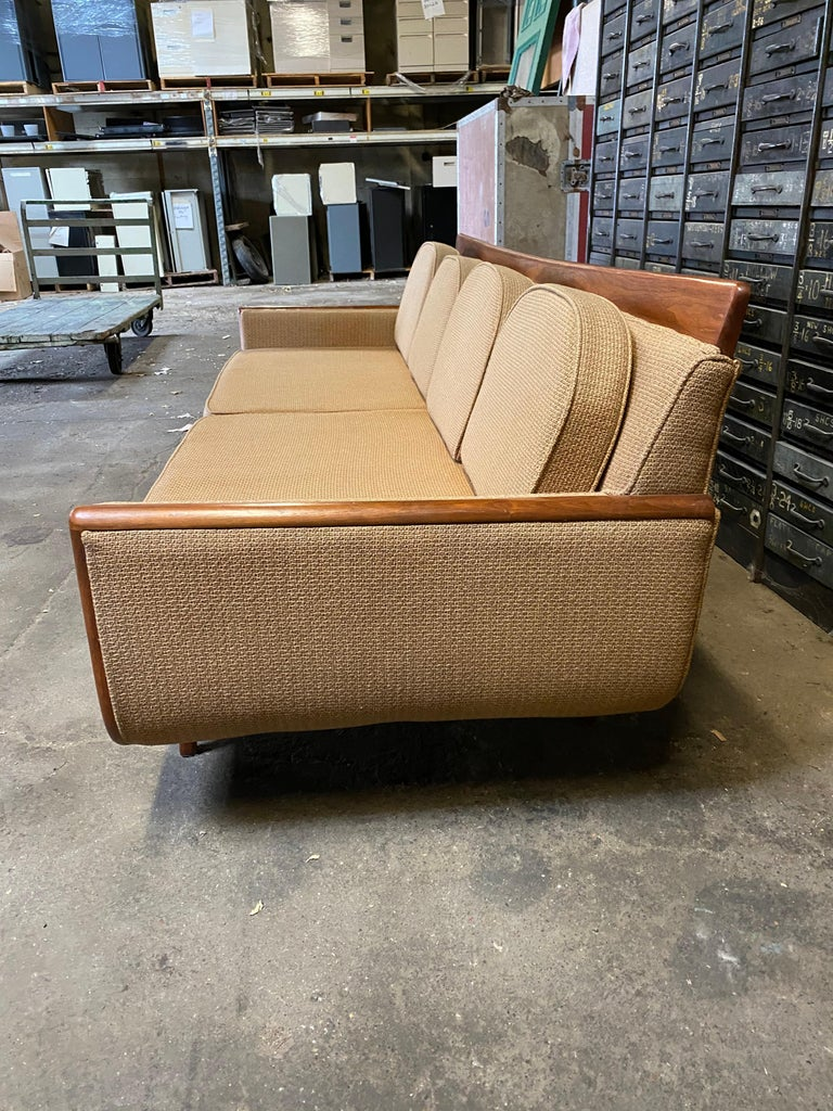 American Handsome Mid-Century Modern Sofa, Manner of Adrian Pearsall For Sale