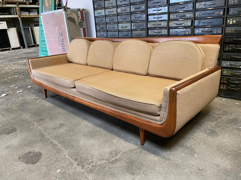 Upholstery Handsome Mid-Century Modern Sofa, Manner of Adrian Pearsall For Sale