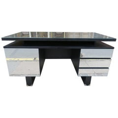 Handsome Mirrored French Desk 1970s France
