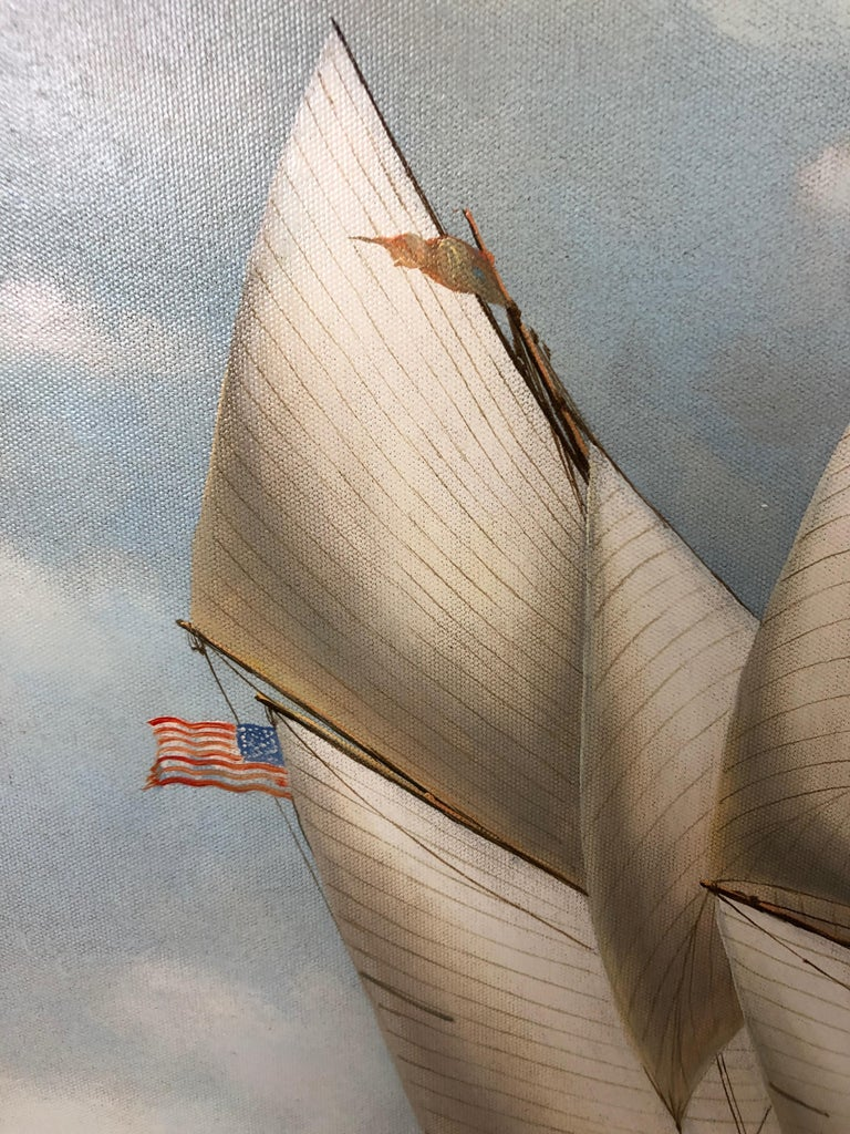 Handsome Painting of Sailing Vessels by Cooper For Sale 2