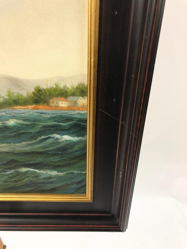 Handsome Painting of Sailing Vessels by Cooper For Sale 3