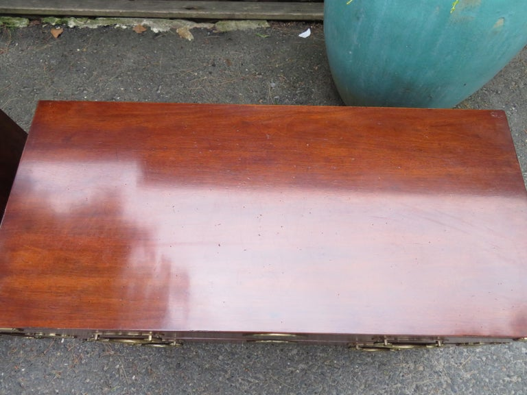 Handsome Pair of Henredon Asian Campaign Bachelors Chest, Mid-Century Modern For Sale 3