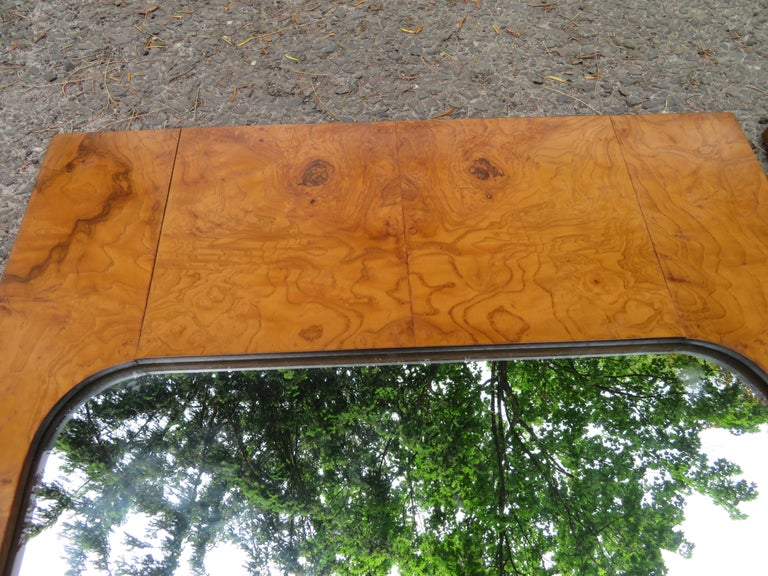 Handsome Pair of Lane Burl Mirrors Mid-Century Modern For Sale 5