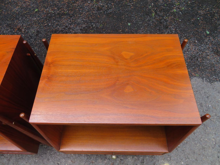 Handsome Pair of Drexel Declaration Night Stands by Kipp Stewart In Good Condition For Sale In Medford, NJ