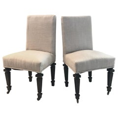 Handsome Pair of Period French Napoleon III Chairs