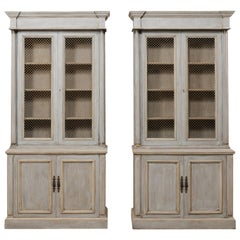 Handsome Pair of Tall Empire-Style Buffet à Deux-Corps, Mid-20th Century