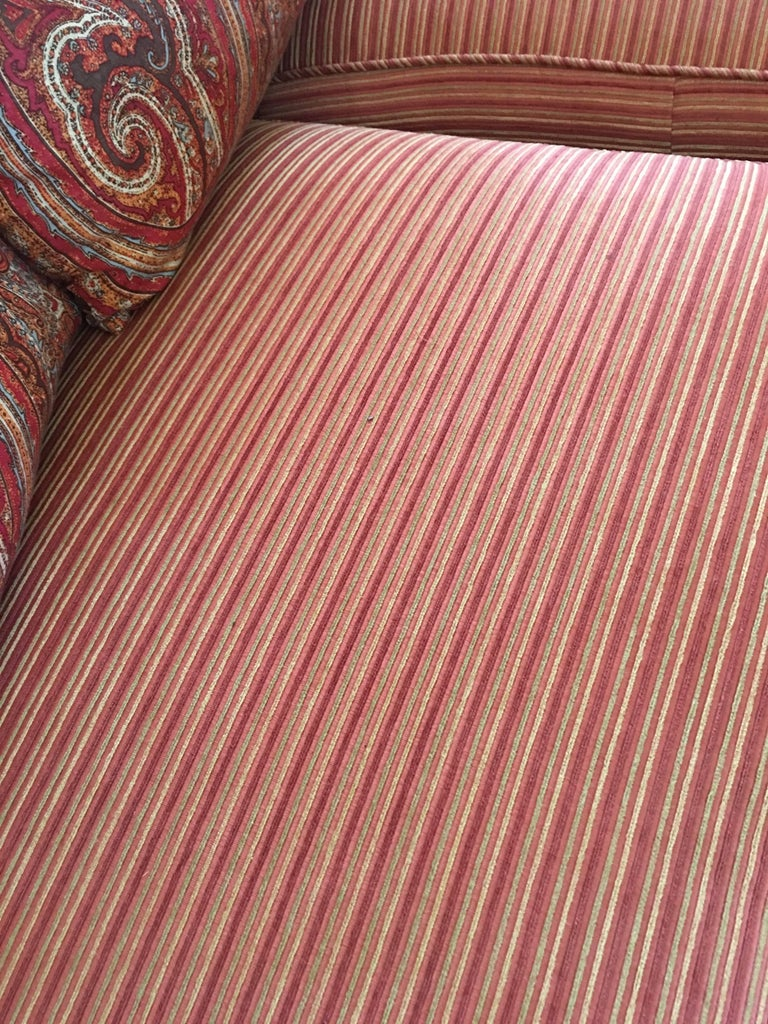 Contemporary Handsome Pair of Well Loved Ralph Lauren Comfy Sofas