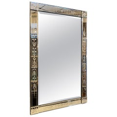 Handsome Rectangular Venetian Mirror, circa 1940s, France